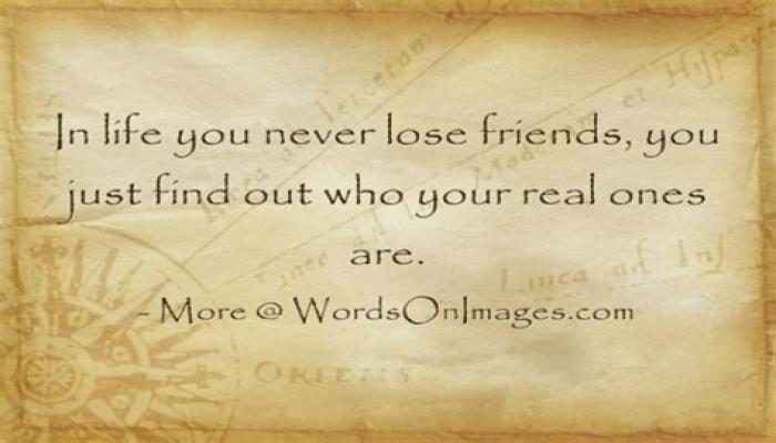 You Find Out Who Your Friends Are